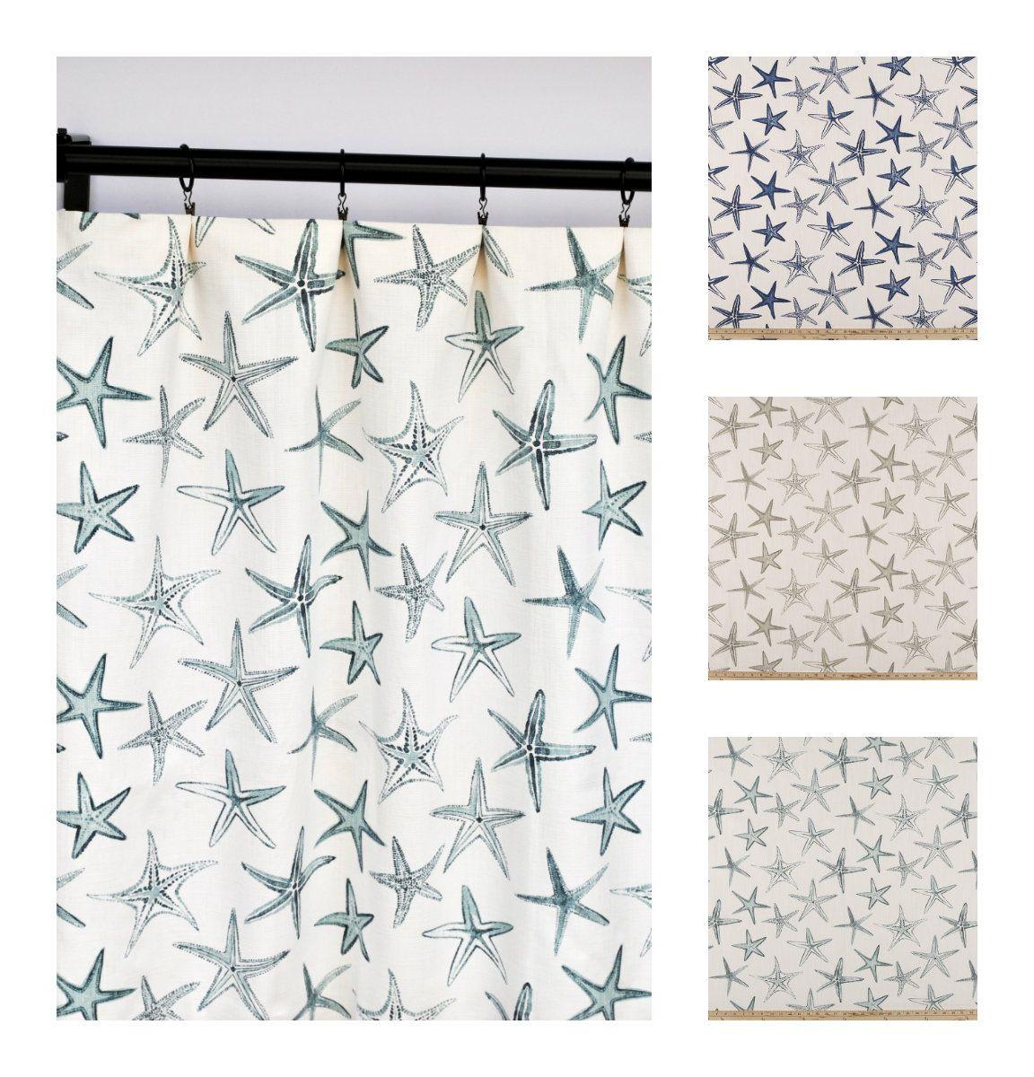 Scott Living Curtains Starfish Nautical Curtain 2 Curtain
