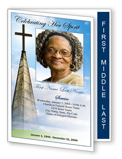 free funeral program templates Templates Programs on Funeral - free memorial service program
