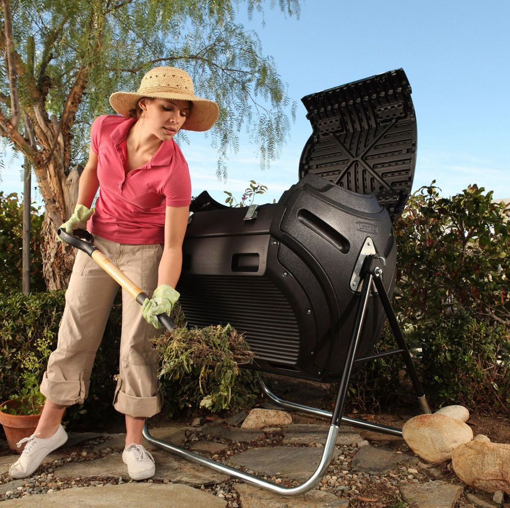 details about compost turner tumbler bin outdoor backyard