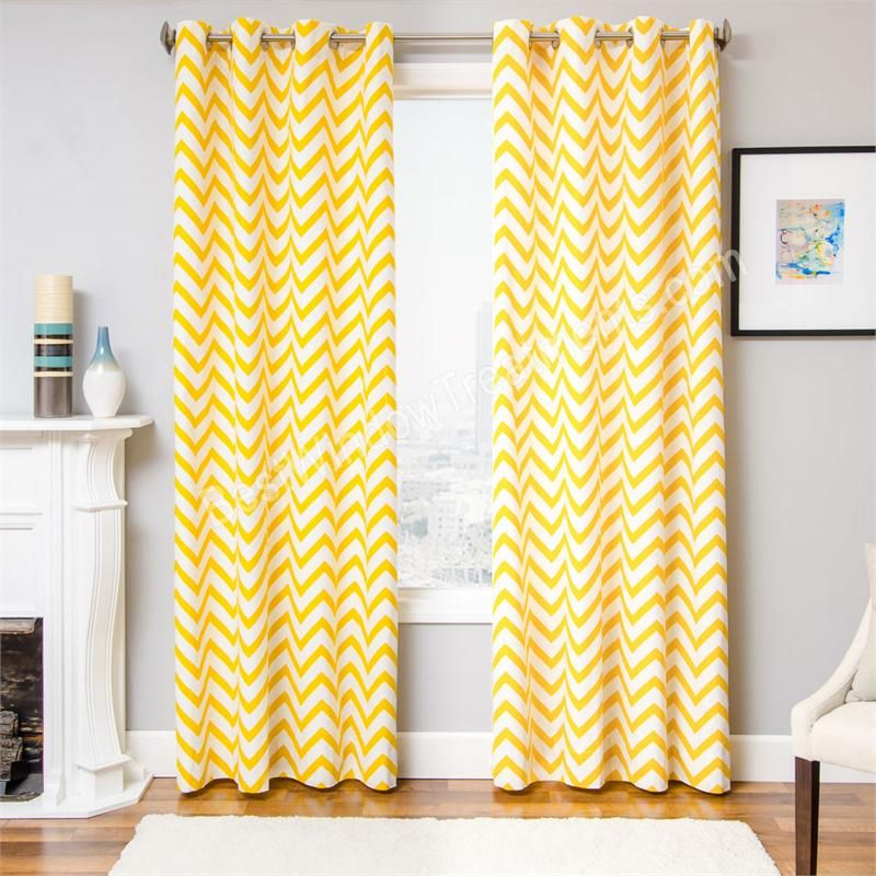 Lovely Zenn Chevron Curtain Drapery Panels