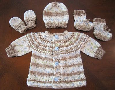 Sweaterhatmittens And Booties For Preemie And Newborn Knitting
