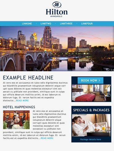 Hotel Email Design Hilton Minneapolis