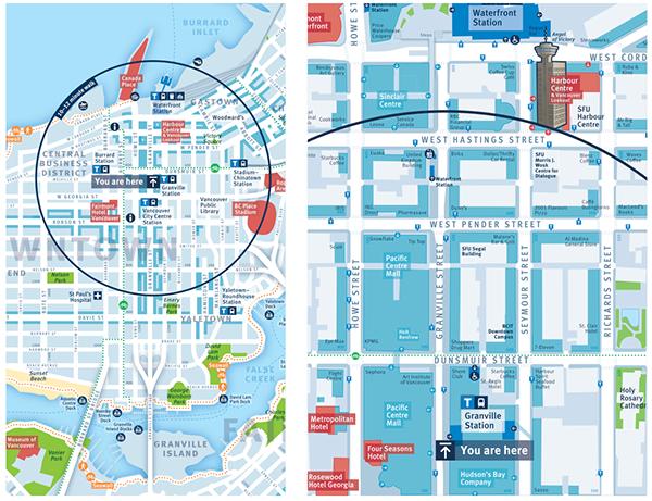 City Of Vancouver On Behance Map Design Wayfinding Signage Wayfinding