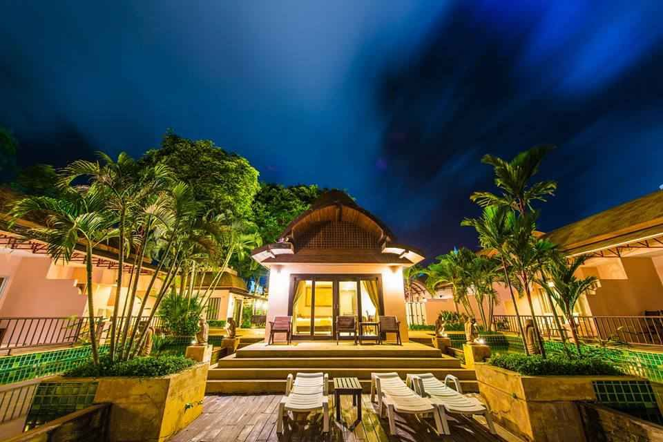 Outdoor wedding at the resort Kata Palm