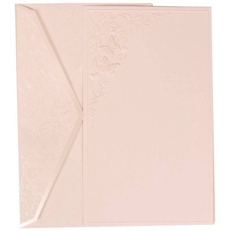 jam paper white card with butterfly design flap envelope large