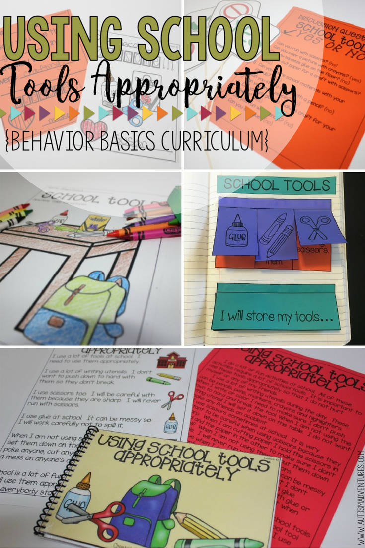 On Special Education How To Use Paper >> Using School Tools Appropriately Behavior Basics Program For