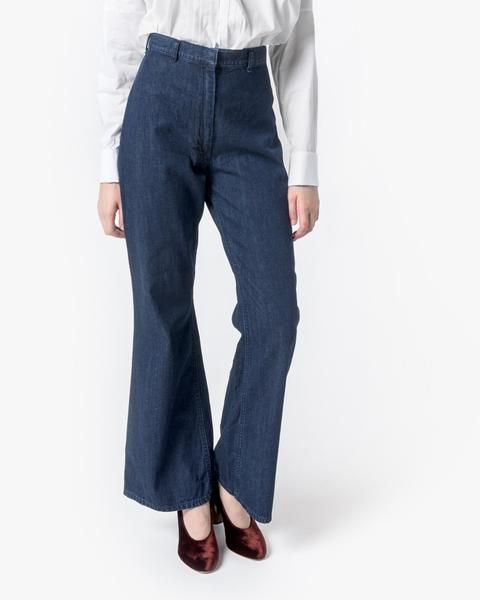 Mohawk - High-Waisted Denim Trouser - by SMOCK 265. https://www.mohawkgeneralstore.com/products/high-waisted-denim-trouser