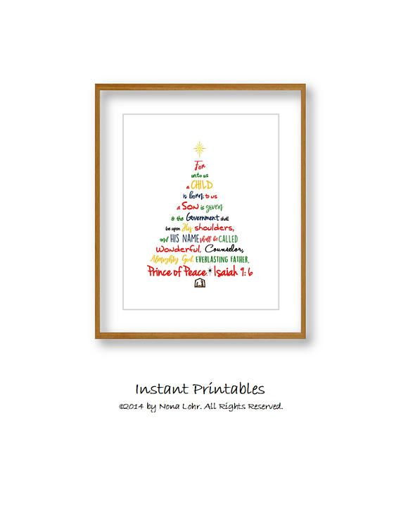 sale christmas tree print christmas instant download