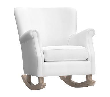 quality design 1d33d 16688 Minna Small Spaces Rocker, Linen Blend White | *Furniture ...