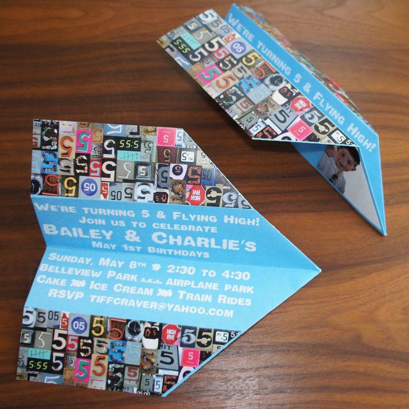 Paper Airplane Birthday Invitation. | Kids Need Cool Things Too ...