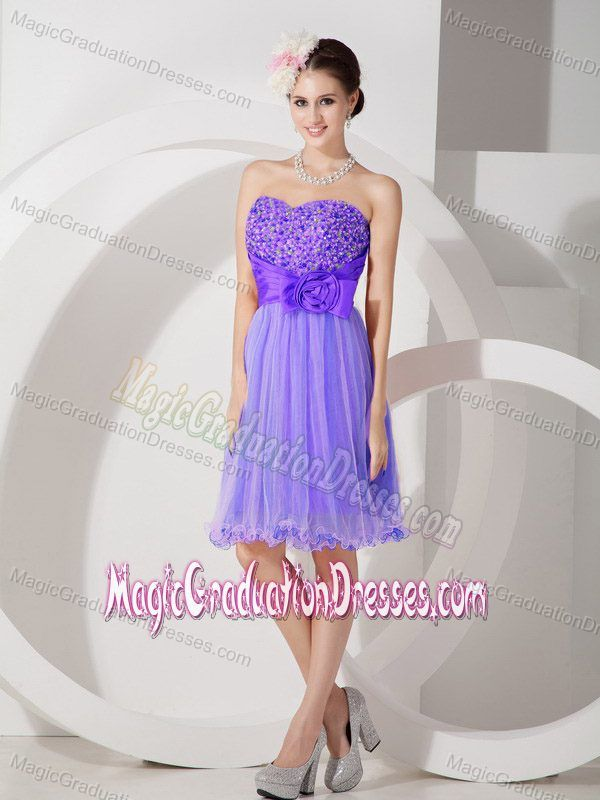 Purple Sweetheart Ruched And Beading Graduation Dresses For S In Ross