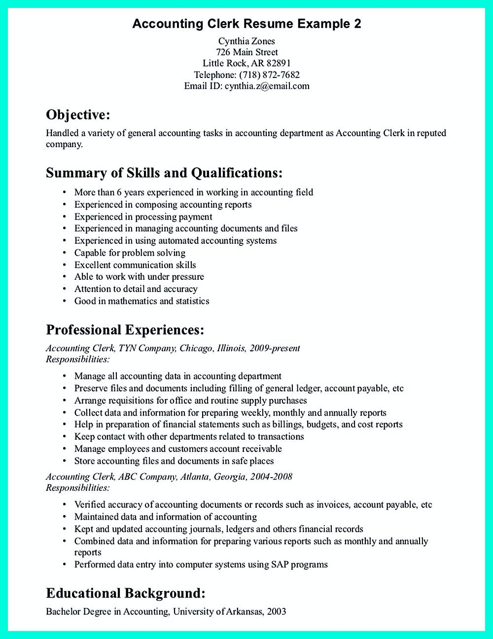 Clerical Resume Sample Think About The Order Of Writing Riwayat Hidup Canada