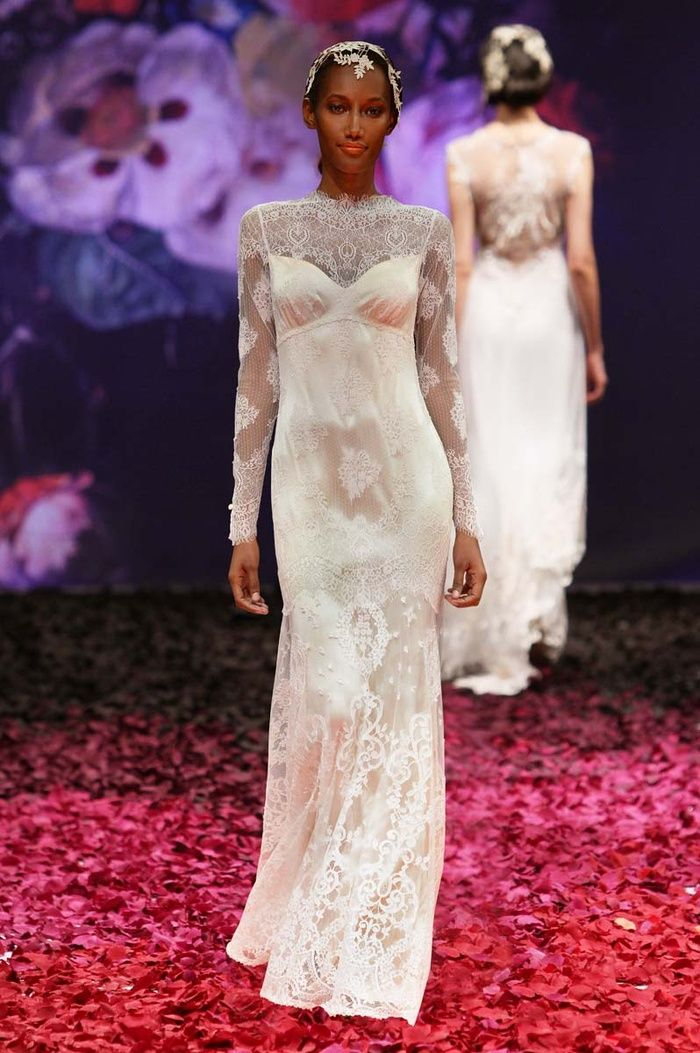 """Dramatic arrangements of flora and fauna, insects and fruits, set against dramatic dark backgrounds exude a mysterious romanticism that is the tone for Claire Pettibone's """"Still Life"""" collection."""
