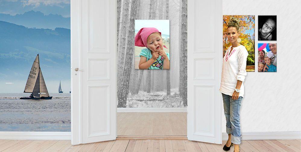 wandbilder selbst gestalten vom eigenen foto fotoleinwand auf leinwand drucken mit eigenem bild bedruckte