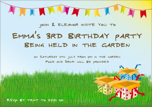 Birthday Invitation Wording For