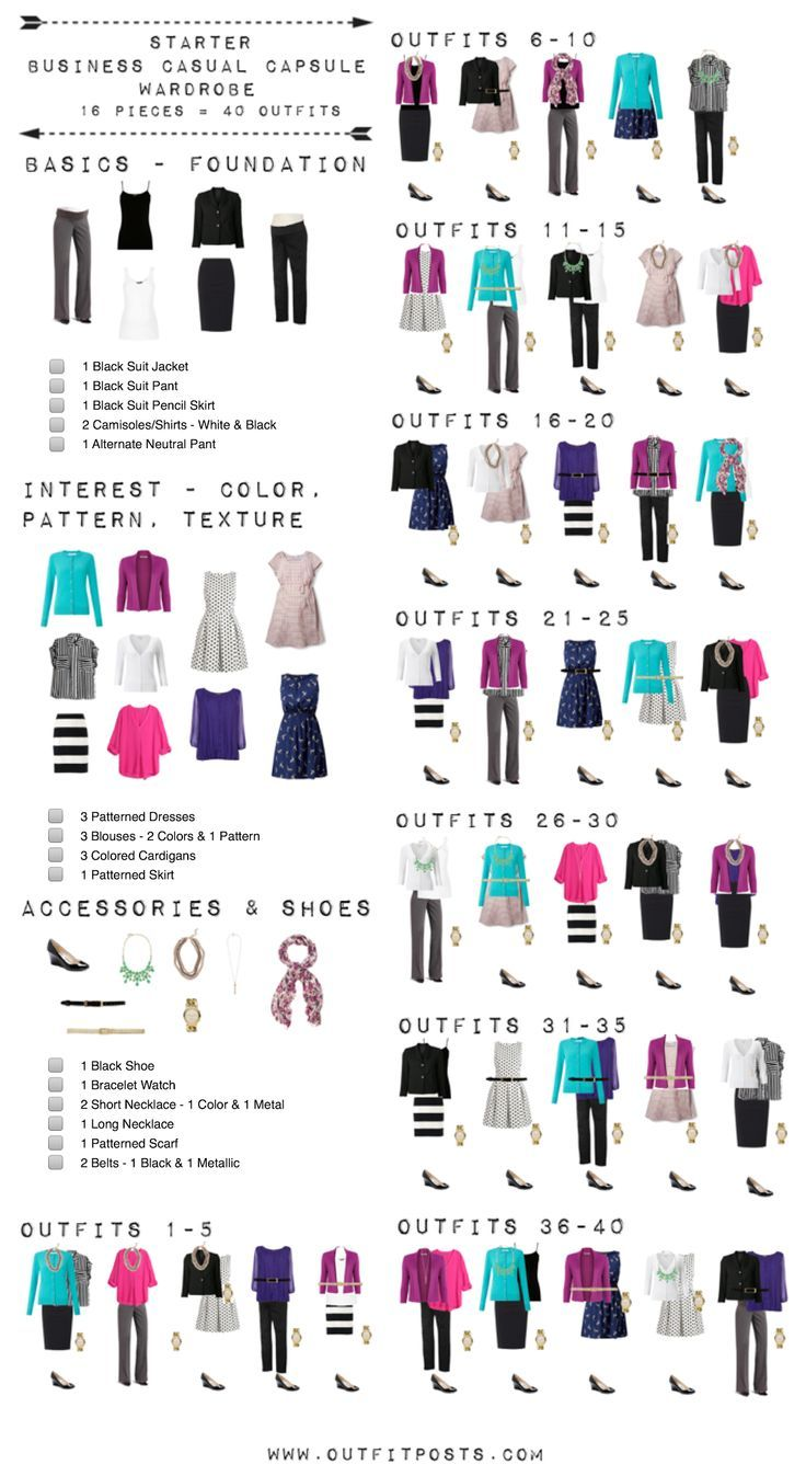 This Checklist Is A Good Template For Basic Starter Work Wardrobe Even Though
