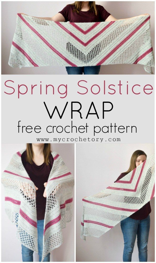 Spring Solstice Wrap - crochet pattern part 1 | Shawls | Pinterest ...