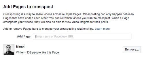 crosspost videos facebook