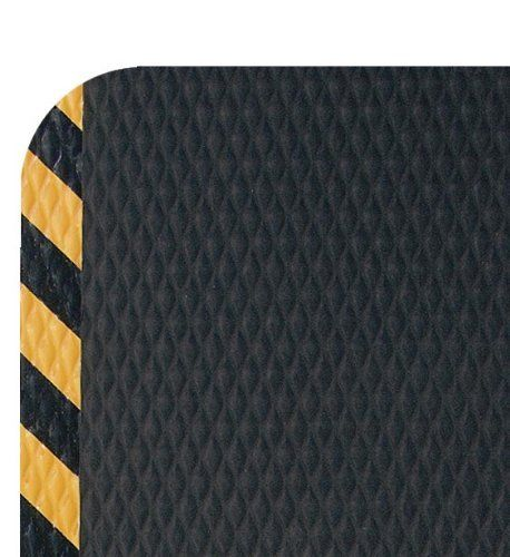 Andersen 423 Nitrile Rubber Hog Heaven Anti Fatigue Mat With Yellow Striped Border 3 Length X 2 Width X 5 8 Anti Fatigue Mat Nitrile Rubber Yellow Stripes