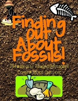 Fossils Differentiated Reading Passages Questions 3rd Grade