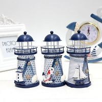 Mediterranean Style Iron Handmade Lighthouse Home Office Party Decoration