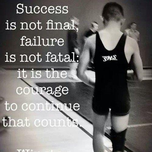 Success is not Final & Failure is not Fatal.