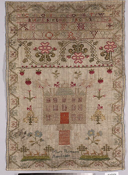 Sampler - Mary Romanes Aged 8 - British | Past stuff :) | Pinterest ...
