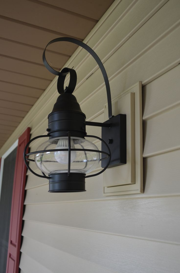 Porch light against siding google search rental exterior norandex sterling deluxe vinyl siding in sandstone with matching mounting block for outdoor light fixtures arubaitofo Choice Image