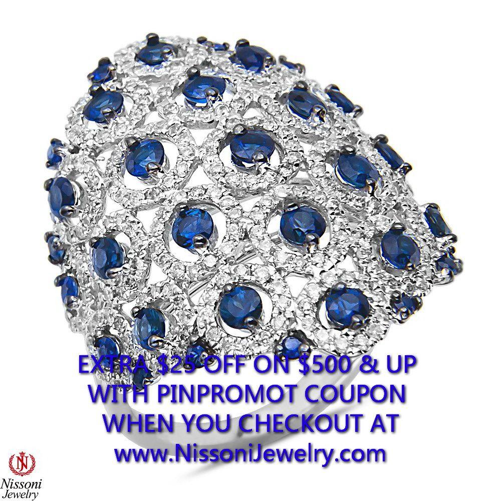 NissoniJewelry.com presents - 1CT Diamond Fashion Ring with 1.8CT Sapphire 10k White Gold  1CT    Model Number:FRV5823K-W054S    Price:$1399.99    https://nissonijewelry.com/jewelry/1ct-diamond-fashion-ring-with-1.8ct-sapphire-10k-white-gold-1ct/frv5823k-w054s.html