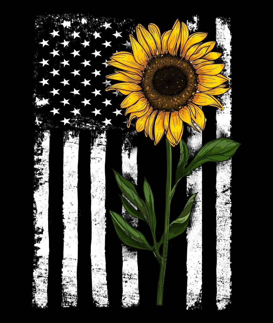 Sunflower and flag wallpaper by CxCx90810 - 9c - Free on ZEDGE™