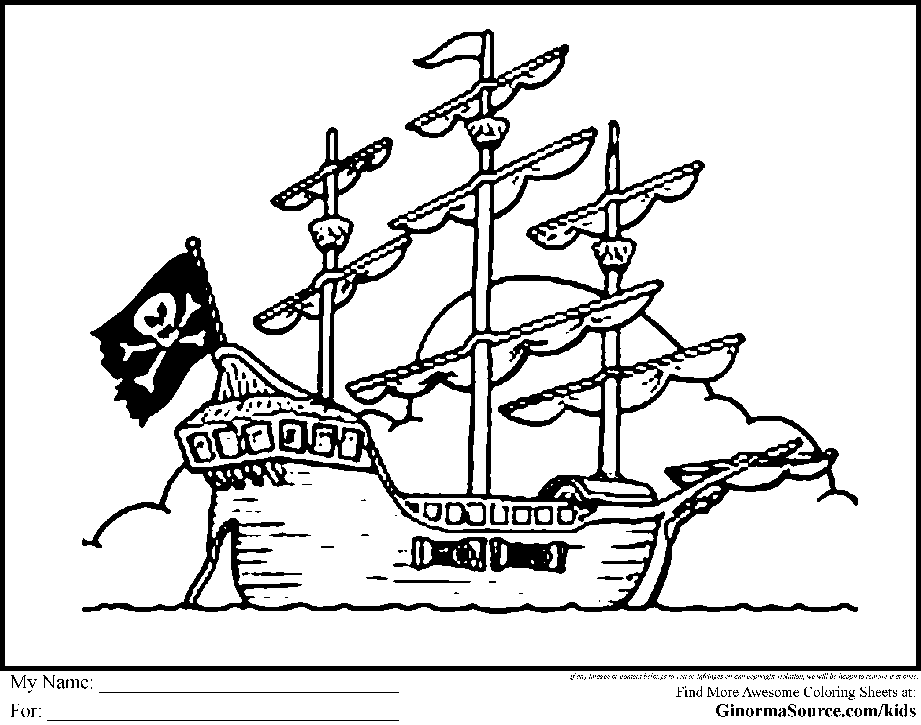 What\'s Your Pirate Name | Pirates Ship Coloring Pages | E-H Pirates ...