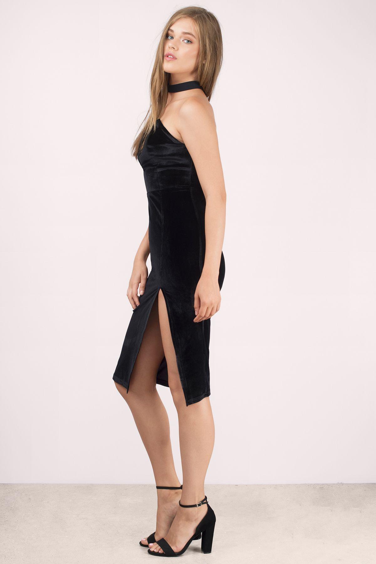 Prom dresses tobi black strike a pose velvet bodycon dress law