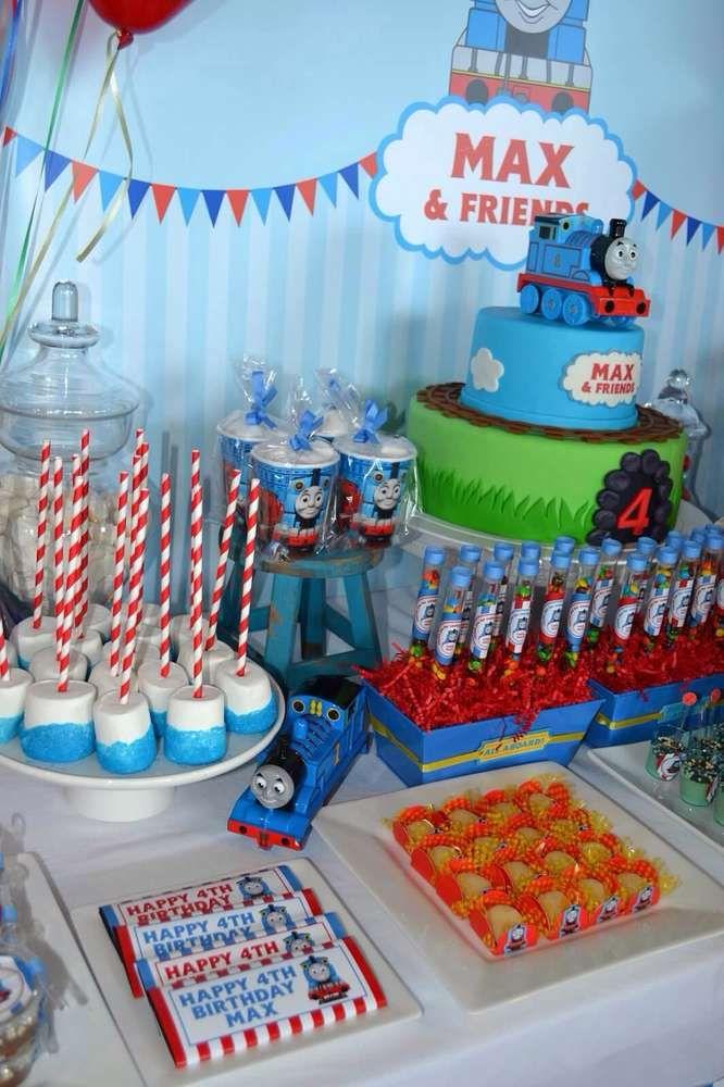 Pin On Thomas The Train Birthday Party Ideas