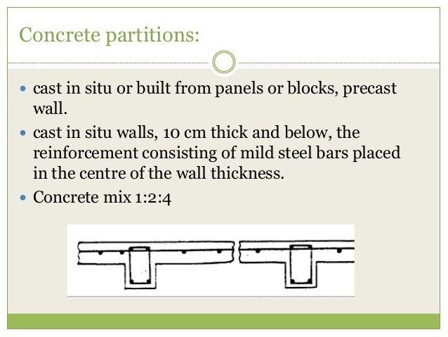 Partition Wall Precast Concrete Partition Wall Concrete Mixes