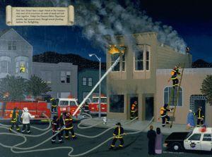 San Francisco Firefighters   - 1984,    Carmen Lomas Garza