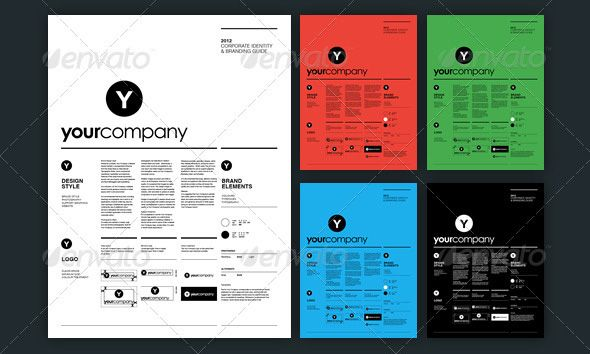 13 Great Brand Book Guidelines- InDesign Templates Branding - guide templates