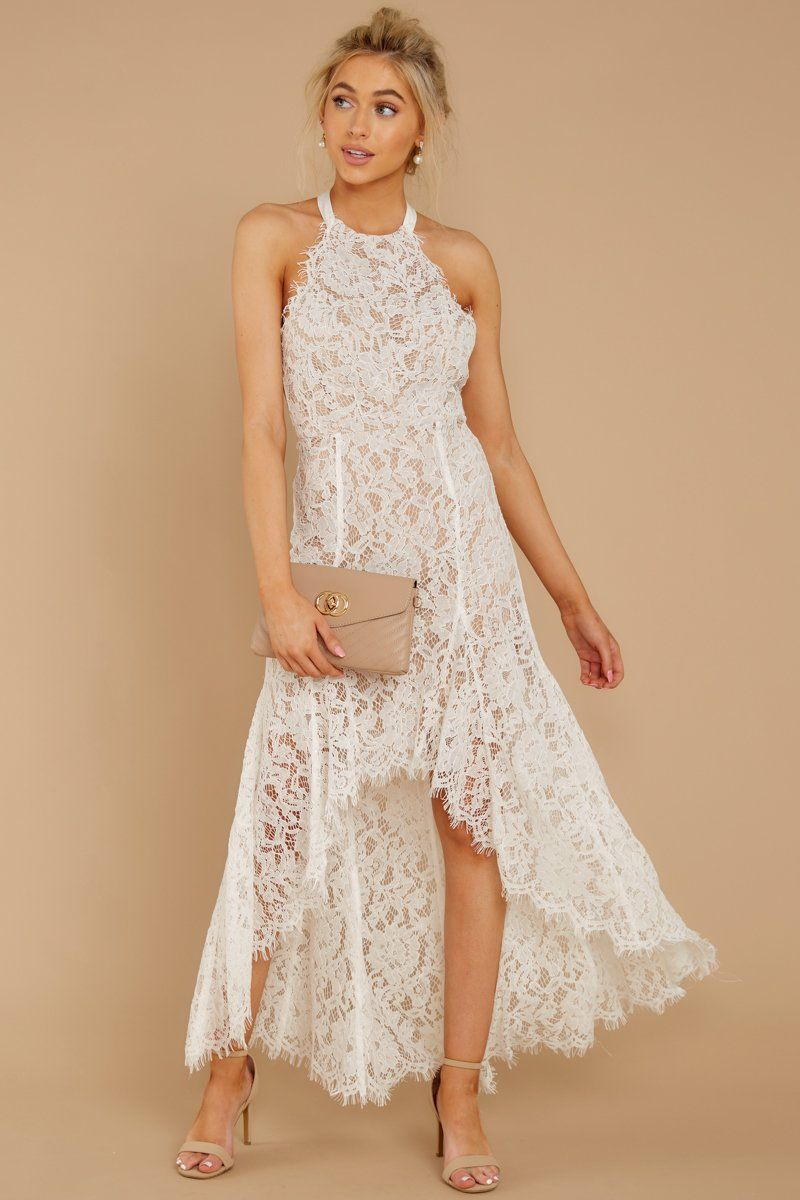Luxurious White Lace Dress High Low Halter Dress Dress 56 00 Red Dress Lace White Dress White High Low Dress White Lace Dress Outfit [ 1200 x 800 Pixel ]