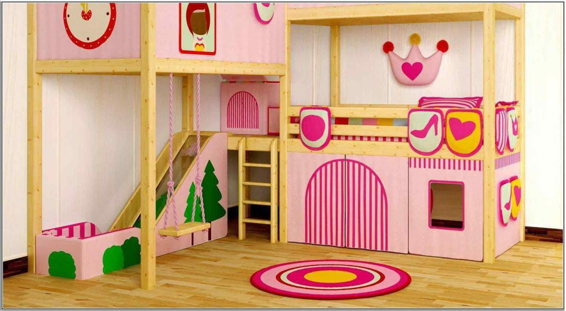 Top And Wonderful Bunk Bed With Swing Ideas With Images Girls