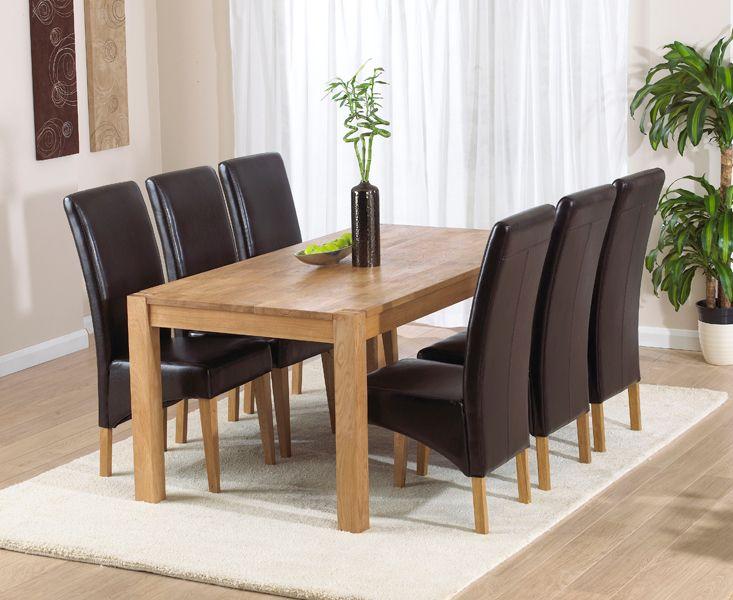 Verona 180Cm Solid Oak Extending Dining Table With Cannes Chairs Simple Dining Room Chairs Online Review