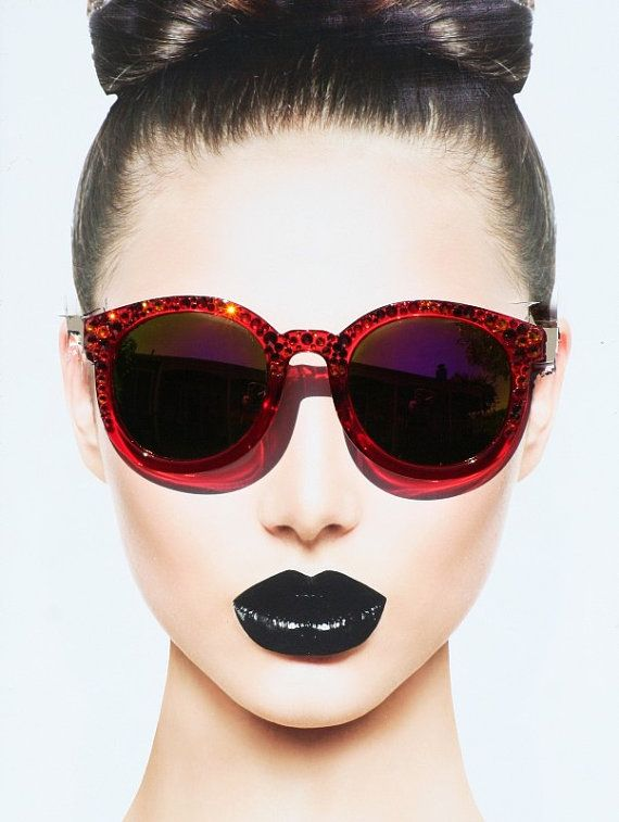Red+Bling+Sunglasses+Mirrored+Sunglasses+by