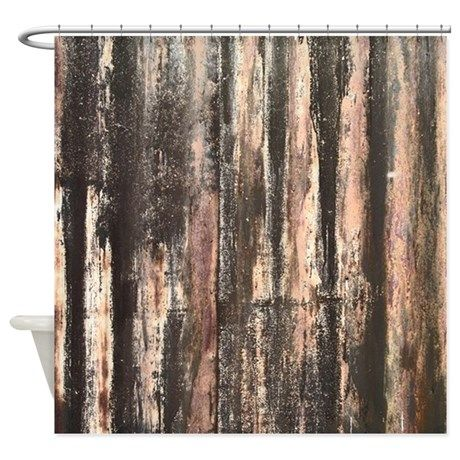 Rusted Corrugated Metal Shower Curtain By Artvixen Cafepress