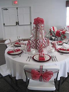 Christmas Themed Tables Christmas Tea Party Christmas Table Decorations Church Christmas Party