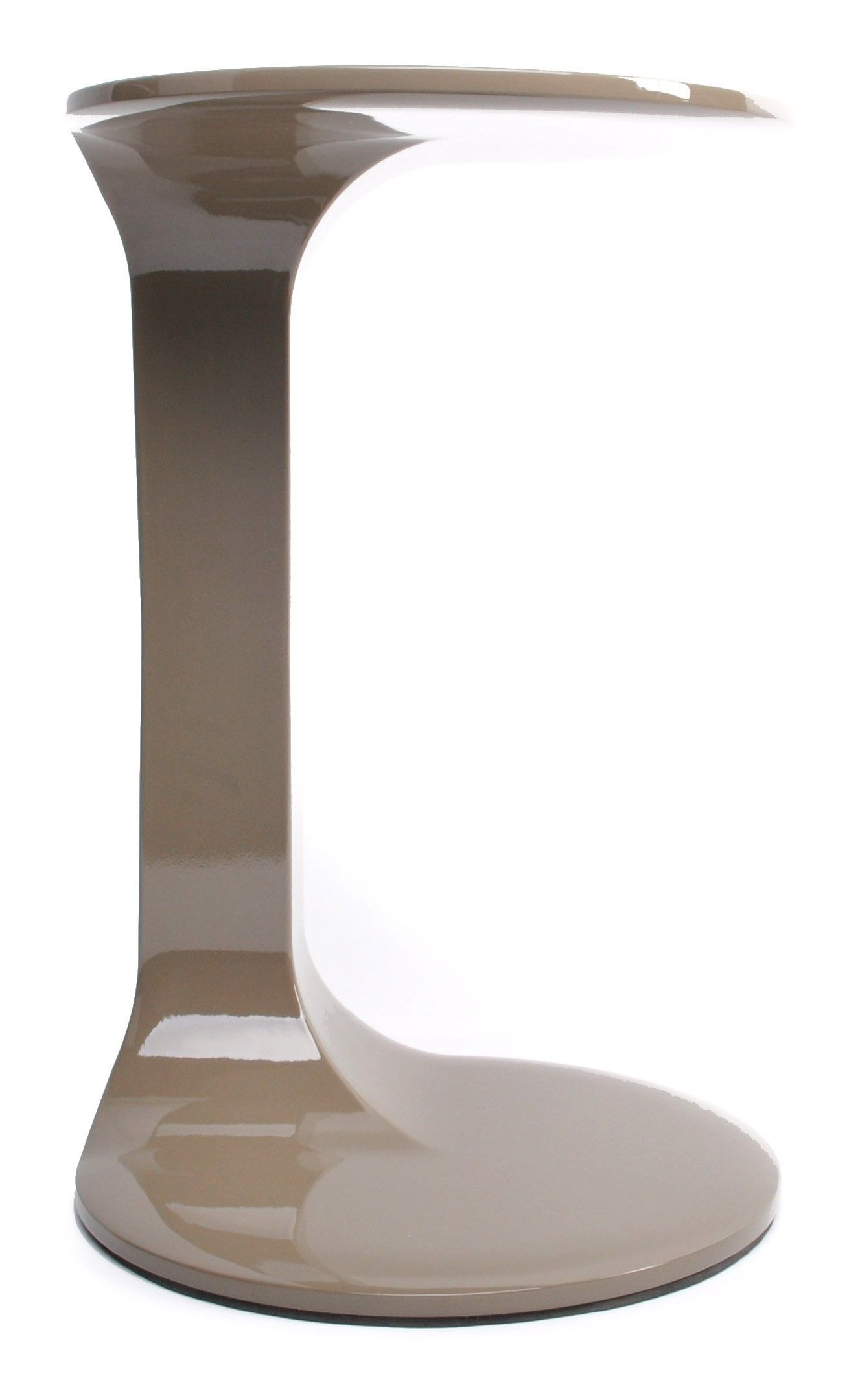 Gueridon Olee Xl Boom Marron Beige Made In Design Bout De Canape Table D Appoint Support Ordinateur Portable