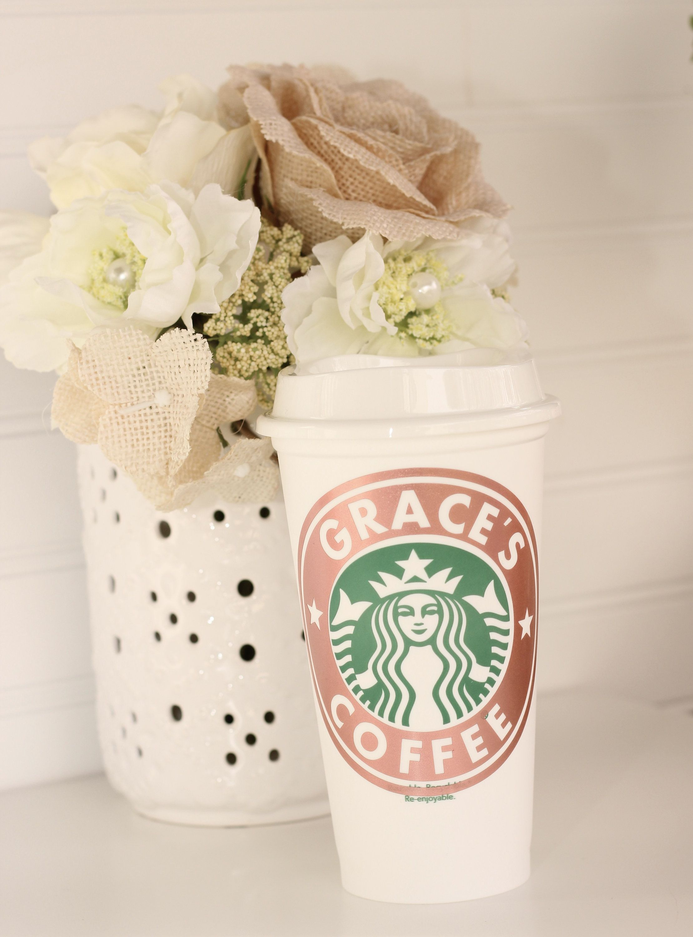 Personalized Starbucks Coffee Cup, Monogrammed Reusable