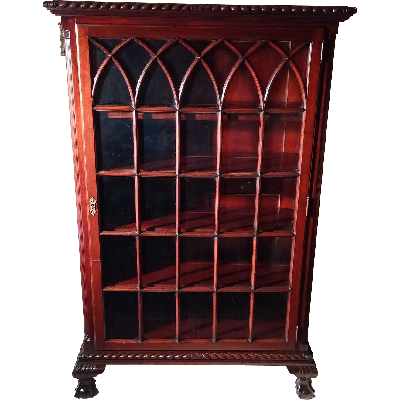 Chippendale China Cabinet Rare Antique Chippendale Ball Claw Foot Mahogany China Cabinet