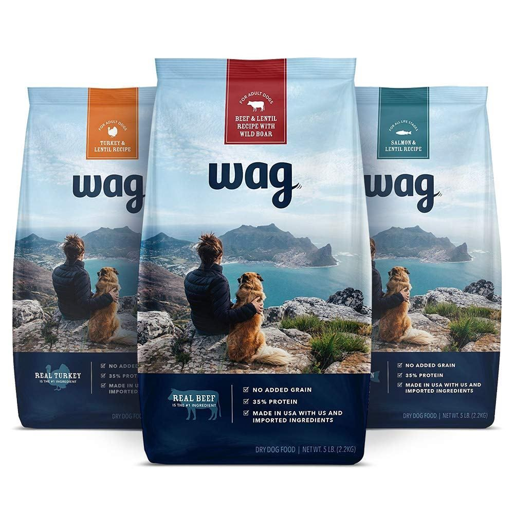 Amazon Brand Wag Dry Dog Food Trial Size No Added Grain 5 Lb