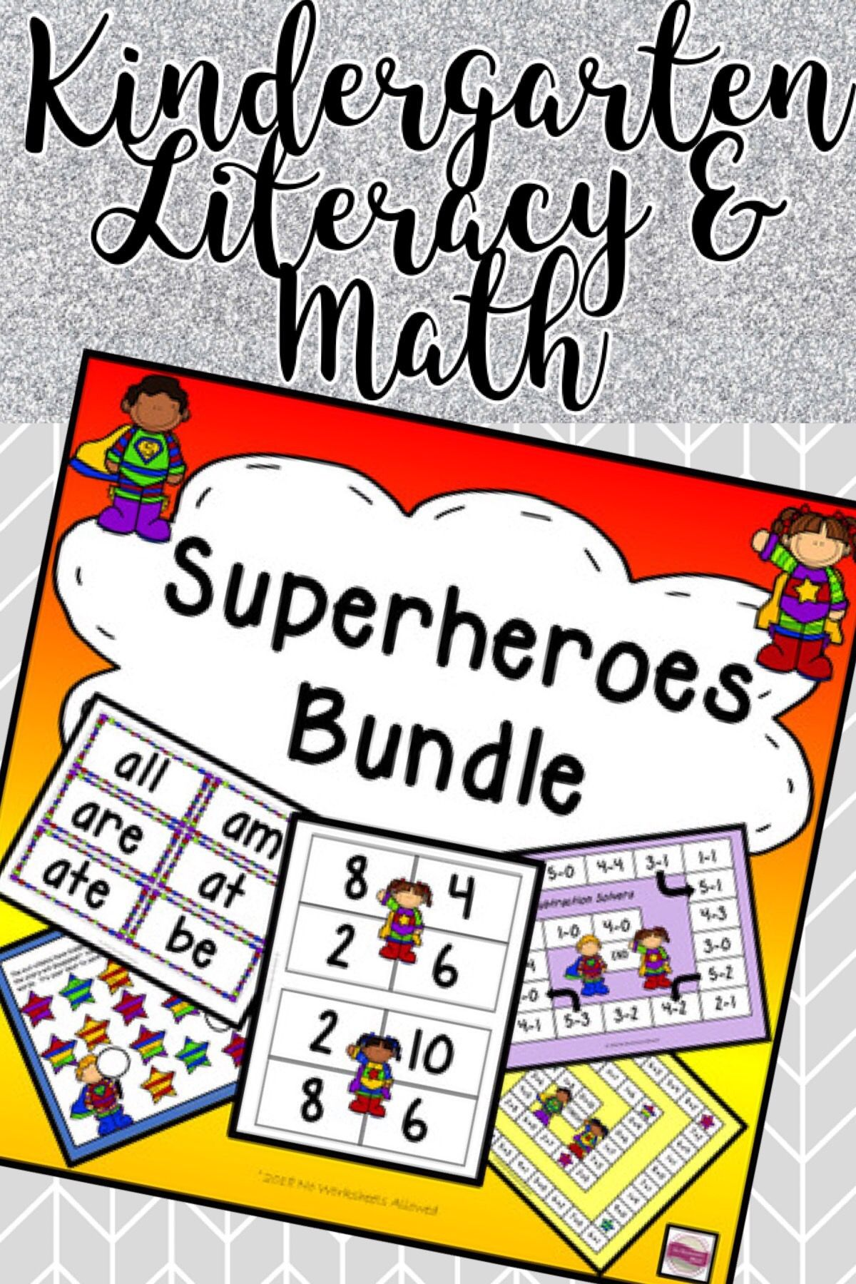 Superhero Addition Subtraction And Sight Words Activities