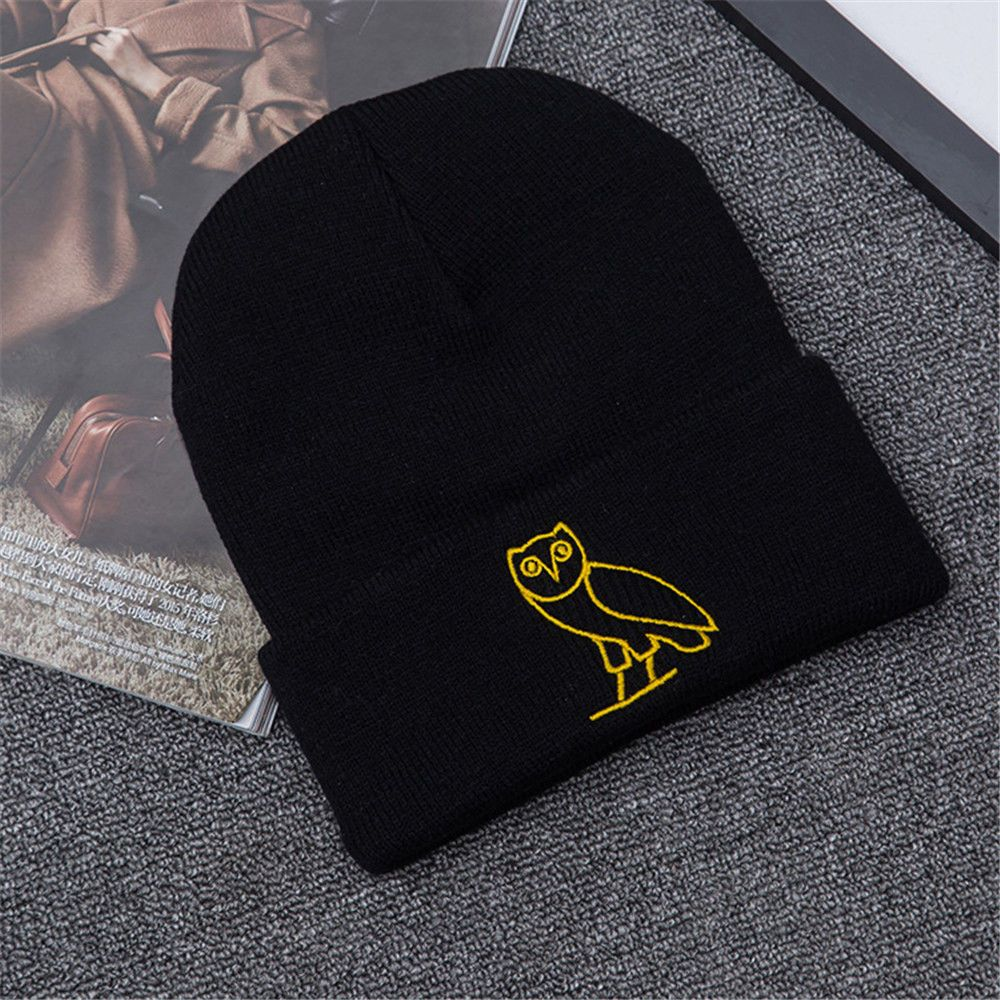 e094efb8f11 Winter Unisex Women Men Hat Owl Hand Embroidery Warm Chic Leisure Cap Hat