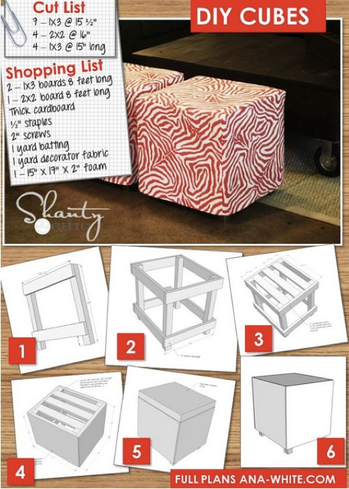 Upholstered cube ottoman planstphomestead and survival diy furniture how to build a simple upholstered ottoman cubepick your own fabric make your own color solutioingenieria Choice Image