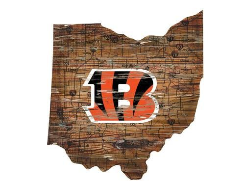 Cincinnati Bengals Wall Art Vintage State Map Logo Sign Cincinnati Bengals Kohl S